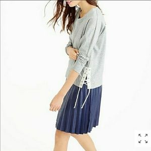 J.Crew Gray Side Lace Up Cotton Sweatshirt